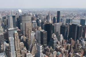 Вид на город со смотровой площадки Empire State Building