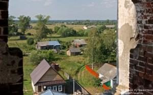 Вид на село Замытье с колокольни