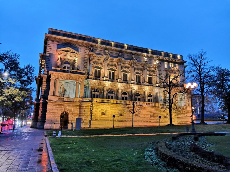 The Old Palace Belgrade by night