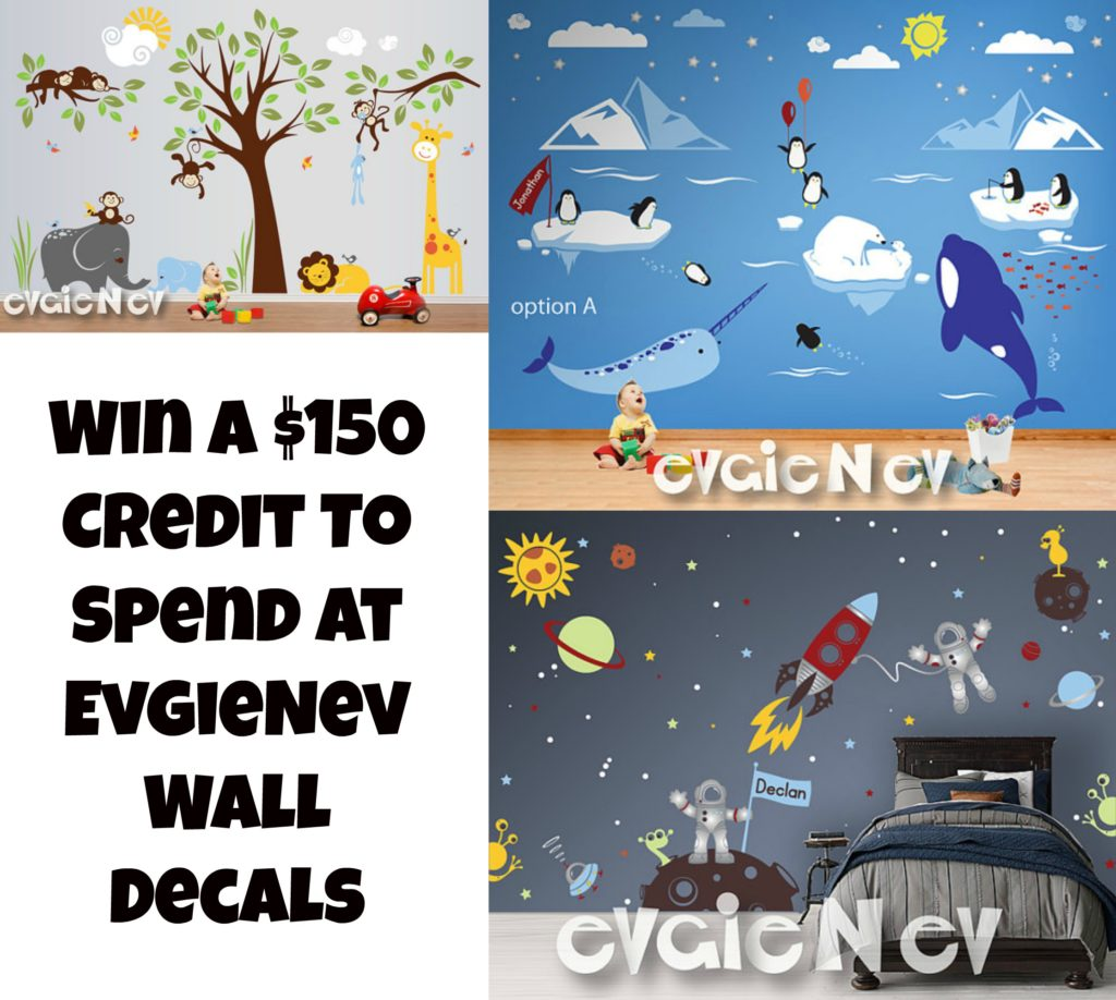Evgie Wall Decals Giveaway #WIN Ends 3/10 - My Four and MoreMy ...
