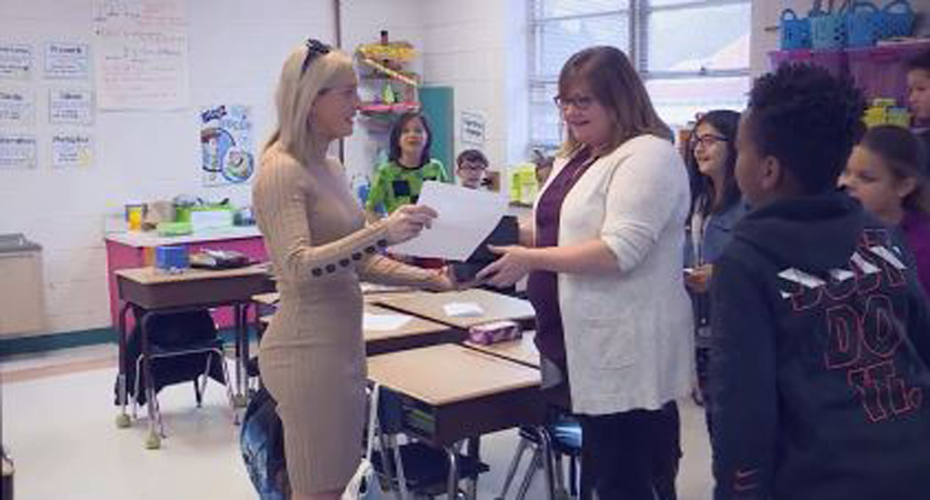 Donna Lee Loflin Elementary School's Meghan Joyce is our Educator of the Week.