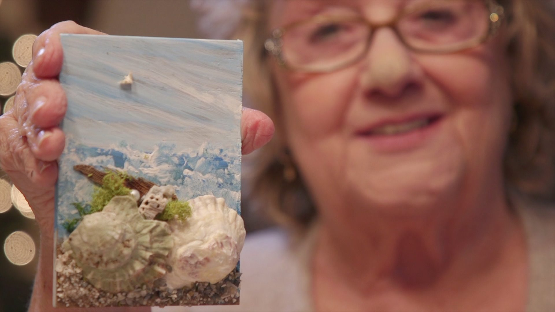 Winston-Salem woman makes art out of seashells