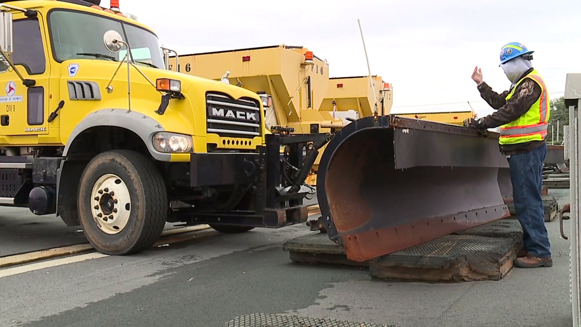 Crews in Winston-Salem get ready Wednesday for possible snow on the way Thursday.