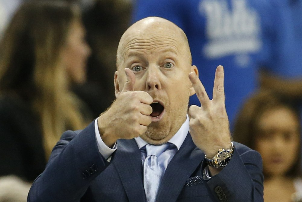 UCLA head coach Mick Cronin gestures during an NCAA college basketball game against Arizona State in Los Angeles. (AP Photo/Ringo H.W. Chiu, File)