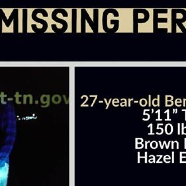 Benjamin Charles Fitch has not been located or heard from since early on Tuesday, Mt. Juliet police said in a tweet.