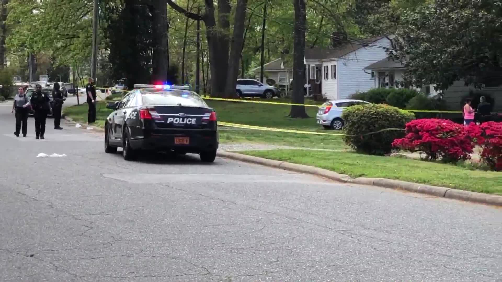 Police on scene of aggravated assault on Wildwood Drive in Greensboro.