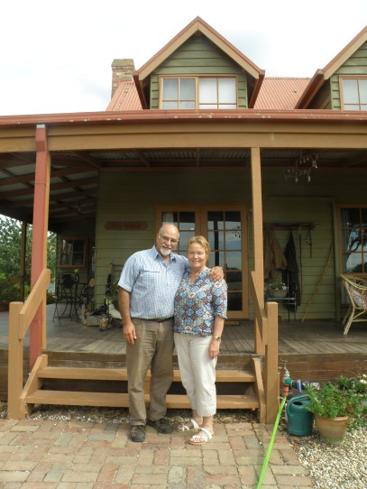 Our generous hosts Ron and Penny