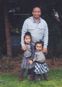 Grandpa and the little ladies.