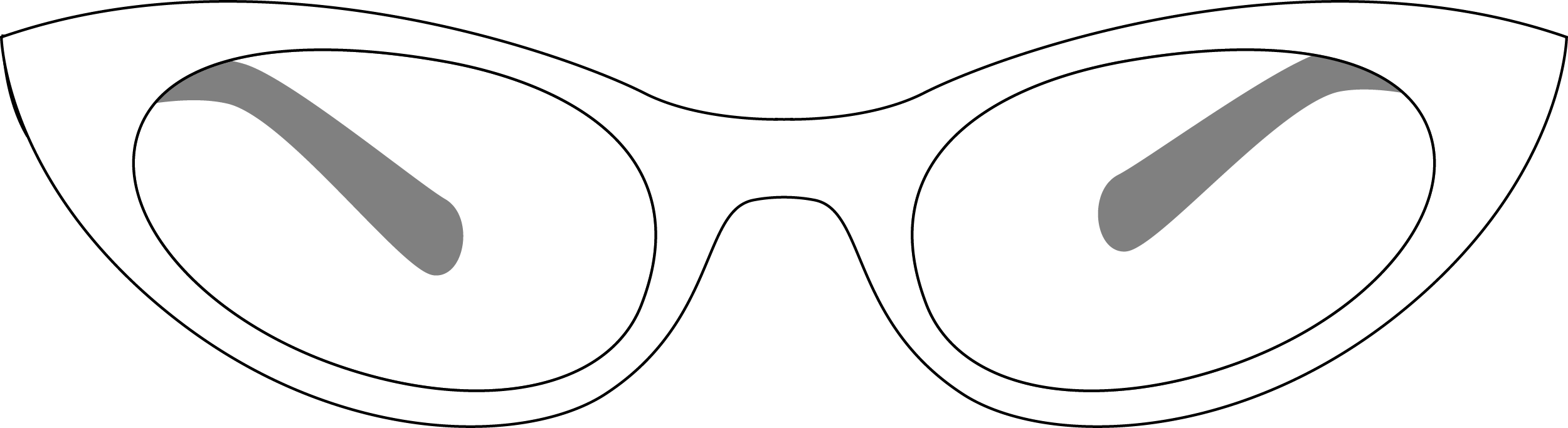 Cateyed Glasses PNG