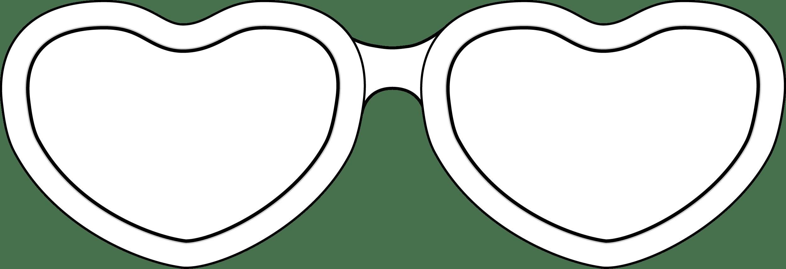 Glasses Funny Heart Shape PNG