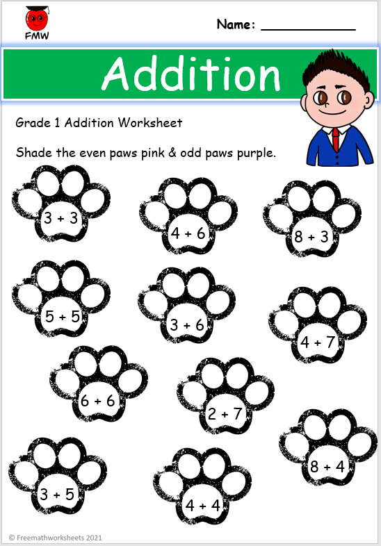 Grade 1 color by number