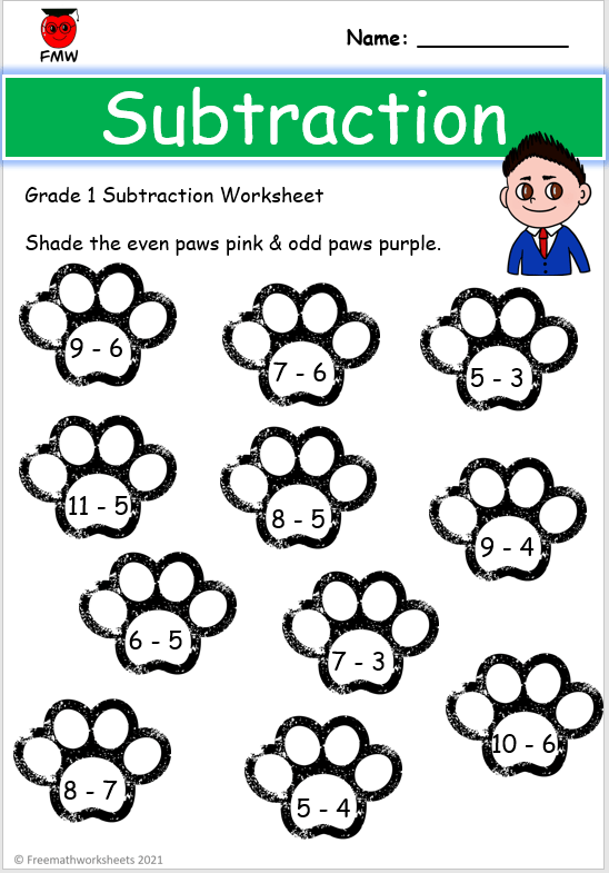 Grade 1 colour by number