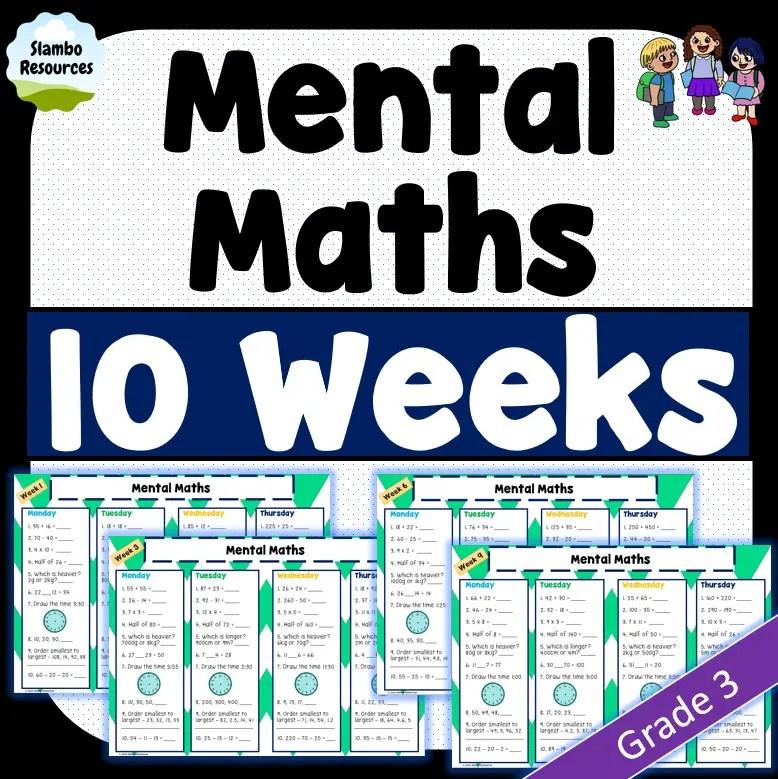 Grade 3 mental maths