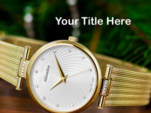 Free Analog Wristwatch PPT Template