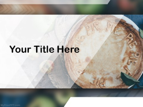 Free Apple Pie PPT Template