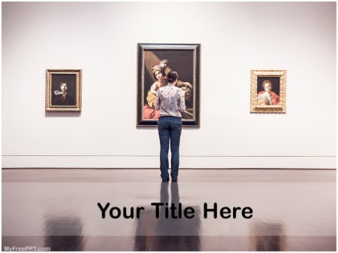 Free Art Gallery PPT Template