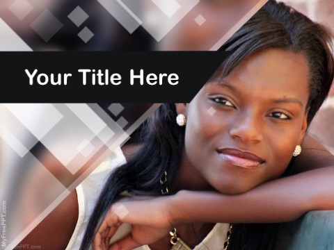 Free Black Girl PPT Template