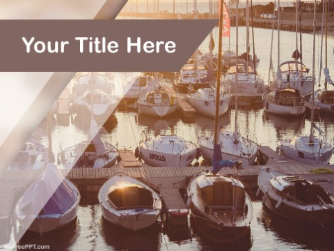 Free Boat Travel PPT Template