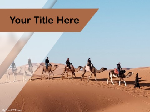 Free Brown Camel PPT Template