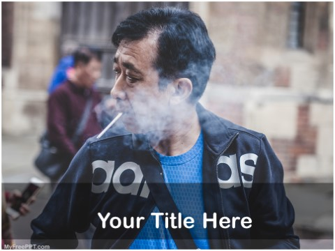 Free Cigarette Smoking PPT Template