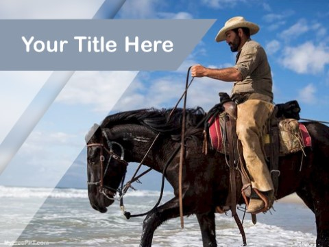 Free Cowboy PPT Template