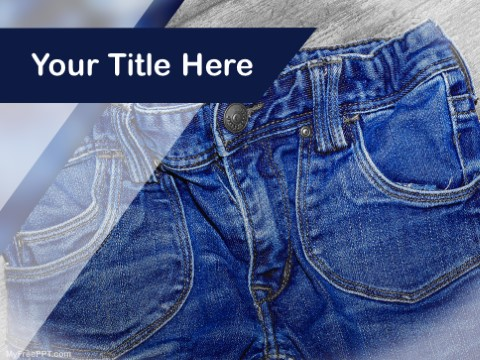 Free Denim PPT Template