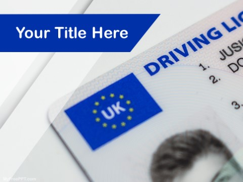 Free Driving License PPT Template