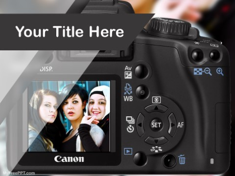 Free Dslr Photography PPT Template