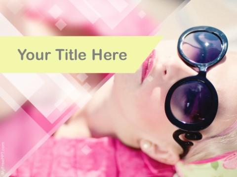 Free Eyewear Modeling PPT Template