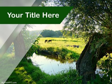 Free Farmland PPT Template