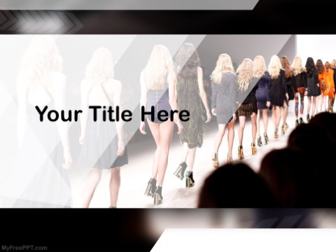 Free Fashion Show PPT Template