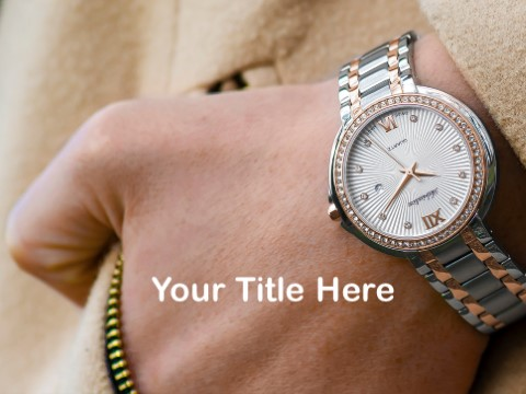 Free Fashionable Watch PPT Template