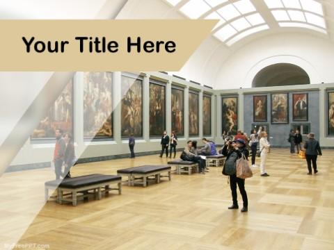 Free Fine Art Exhibition Gallery PPT Tem