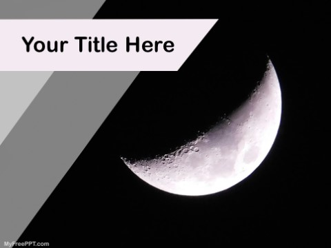 Free Half Moon PPT Template
