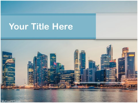 Free High Tech City PPT Template