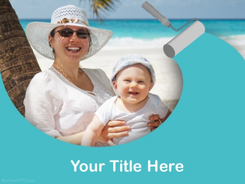 Free Holiday With Baby PPT Template