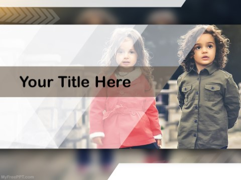 Free Kids Photography PPT Template