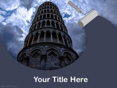 Free Leaning Tower Of Pisa PPT Template