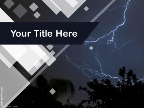 Free Lightning Flash PPT Template