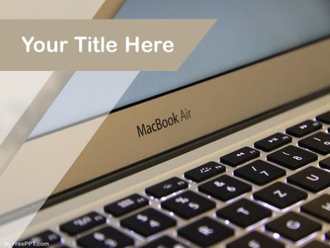 Free Macbook Air PPT Template