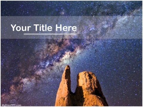 Free Milky Way Galaxy PPT Template