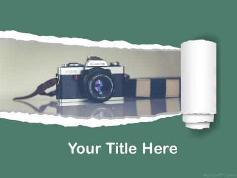 Free Minolta Camera PPT Template