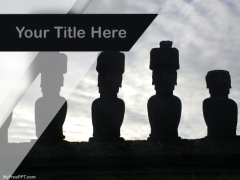 Free Moai Statue In Easter Island PPT Te