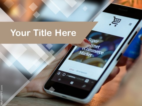 Free Mobile E Commerce PPT Template