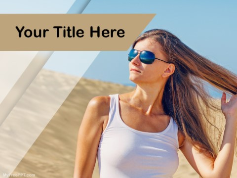 Free Model Photography PPT Template