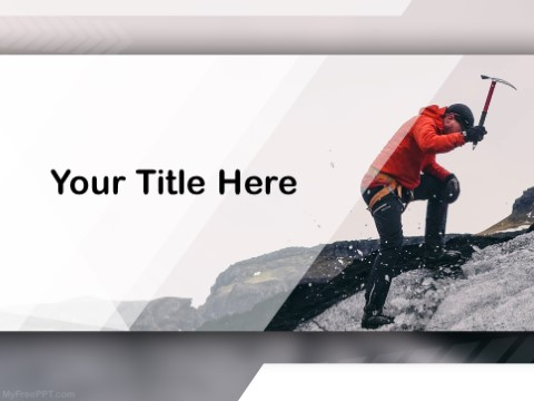 Free mountain climbing ppt template download free powerpoint ppt free mountain climbing ppt template toneelgroepblik