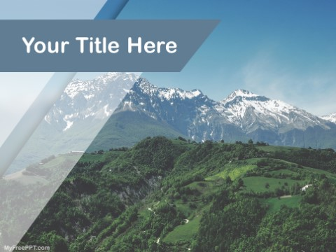 Free Mountain Range PPT Template