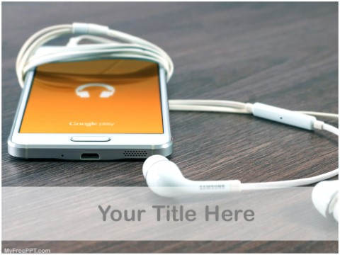 Free Music On Mobile Phones PPT Template