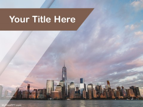 Beautiful new york skyline template gallery the best curriculum free newyork skyline ppt template download free powerpoint ppt toneelgroepblik Images