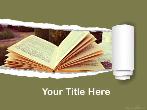 Free Old Novel PPT Template